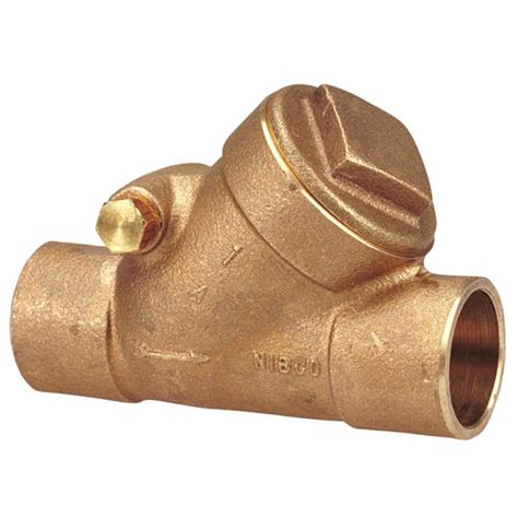 nibco swing check valve nibco bronze check valve bronze disc 150 psi at menards 174