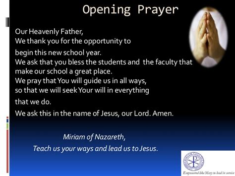 closing prayer for christmas opening orientation ppt june 2013 test