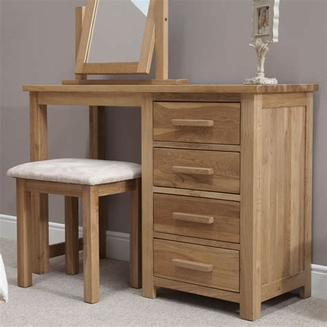 bedroom dressing table eton solid oak contemporary bedroom furniture dressing table with stool ebay
