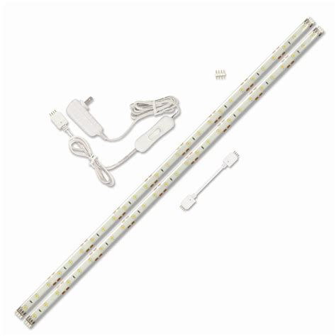 lowes led under cabinet lighting shop utilitech 2 pack 18 in plug in under cabinet led tape
