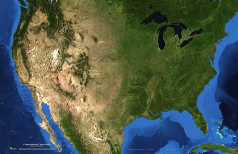 map usa states satellite uns satelliten karte