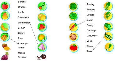 vegetables en ingles ingl 233 s primero activity 4 fruits vegetables food
