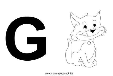 disegno lettere alfabeto lettere alfabeto con disegni g mamma e bambini