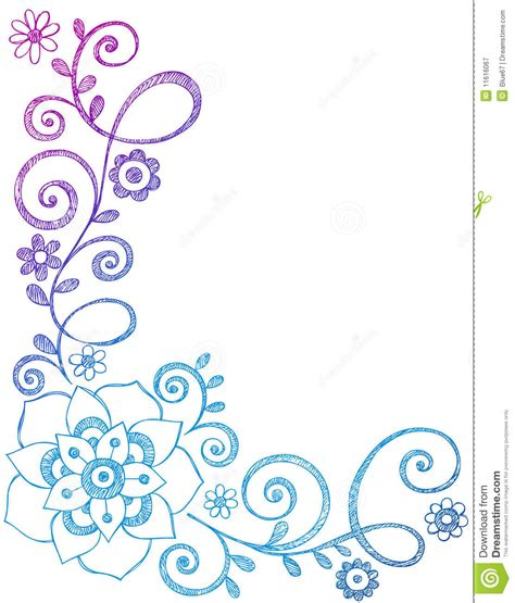 flower design notebooks flower and vines border sketchy notebook doodles