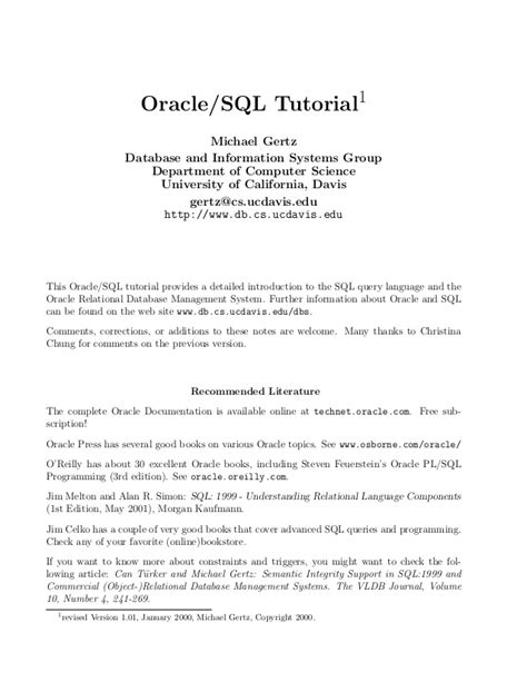 sql tutorial with oracle oracle sql tutorial