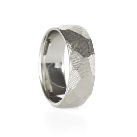 Handmade Wedding Band - geometric handmade wedding band by kendra renee