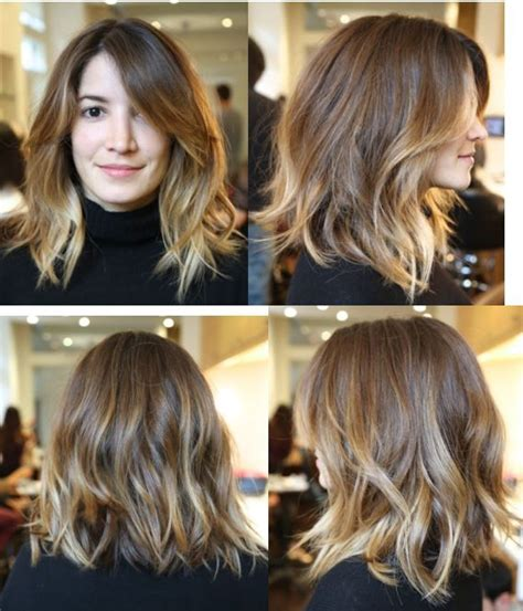 medium length hair with ombre highlights annabelle s hair 4 months later reshaped medium length