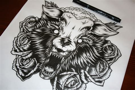 wolf in sheeps clothing tattoo wolf in sheep s clothing on behance