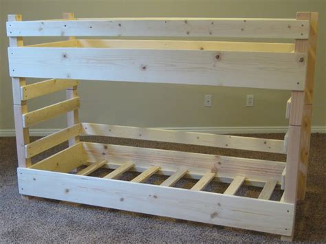 crib size bunk beds diy bunk beds kids toddler diy bunk bed plans fits crib