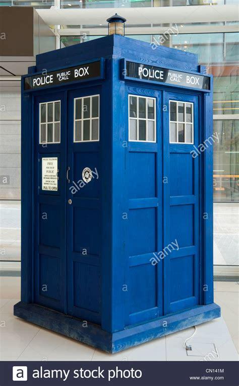 tardis box doctor who tardis box in the atrium of the studios