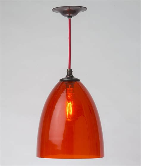 clear glass pendant light shade burnt orange hand blown glass shade pendant a fantastic