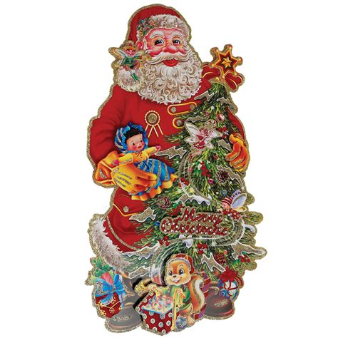 dotcomgiftshop santa tree christmas decoration card