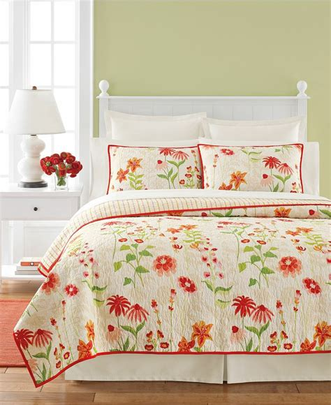 macy s martha stewart bedding martha stewart collection flower song quilts