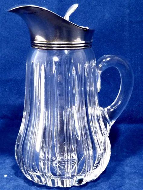 glass pitcher with lid antique cut glass syrup pitcher with sterling lid from collectors row on ruby