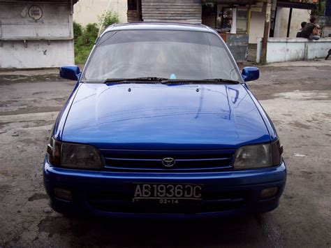 pastika retro car starlet biru metalic