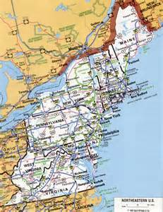Road Map Of Northeast United States by Eeast Us
