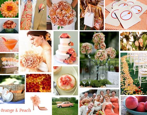 peach color schemes wonderful day weddings llc orange peach a perfect