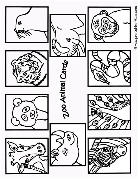 printable zoo animals for preschoolers free coloring pages of zoo animals cutouts