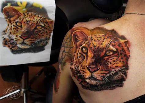 tatouage r 233 aliste retour l 233 opard par dave paulo