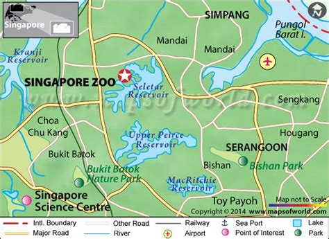 singapore zoo  map location hours