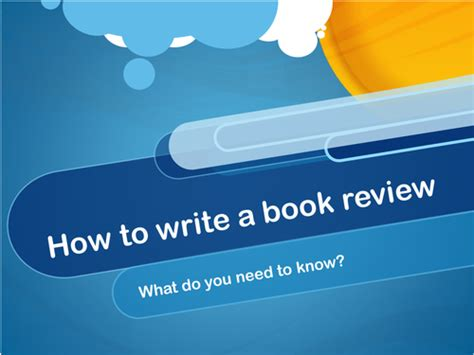 book report powerpoint template how to write a book review by sistersarah teaching