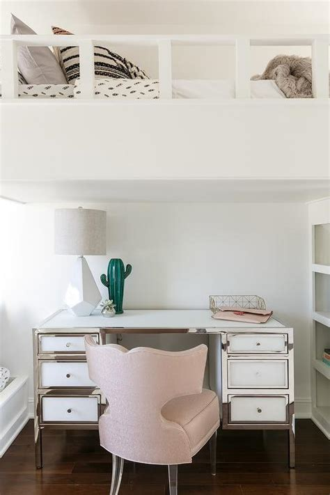 pink and white desk white and black boys bedroom with orange accents