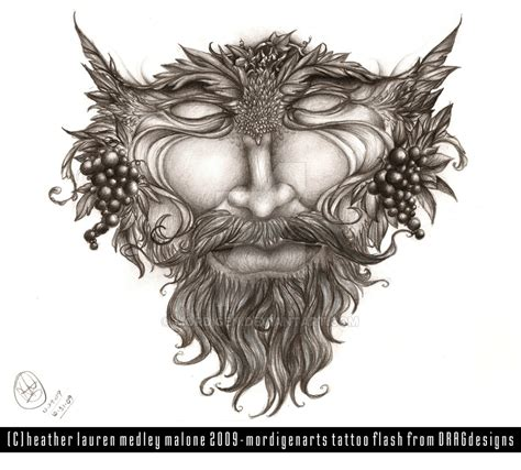 green man tattoo green concept by mordigen on deviantart