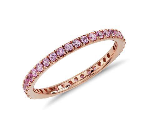 riviera pav 233 pink sapphire eternity ring in 18k gold