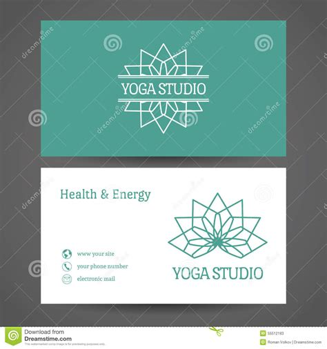 front and back small card template studio vector business card template stock vector