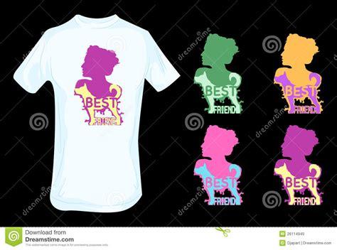 t shirt layout for best friends dog as human best friend t shirt design stock vector