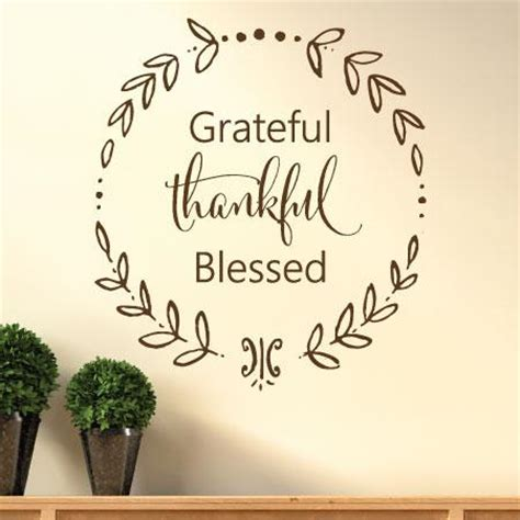 grateful thankful blessed calligraphy wall quotes decal wallquotescom