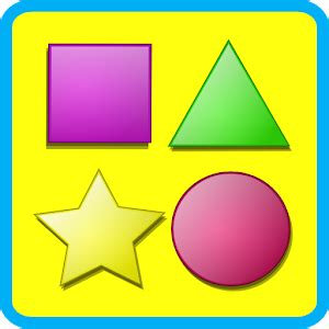 shapes game for kids flashcard android apps on google play