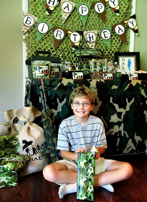 Hostess Gifts For Baby Shower by Camo Covered Halo Themed Birthday Party Hostess With