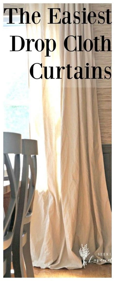 tape and drape lowes drop cloth curtains roman shades and stencils on pinterest