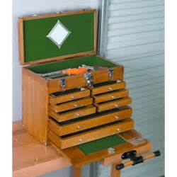 A Tool Cabinet Wood Tool Chest W 8 Wood Tool Drawers
