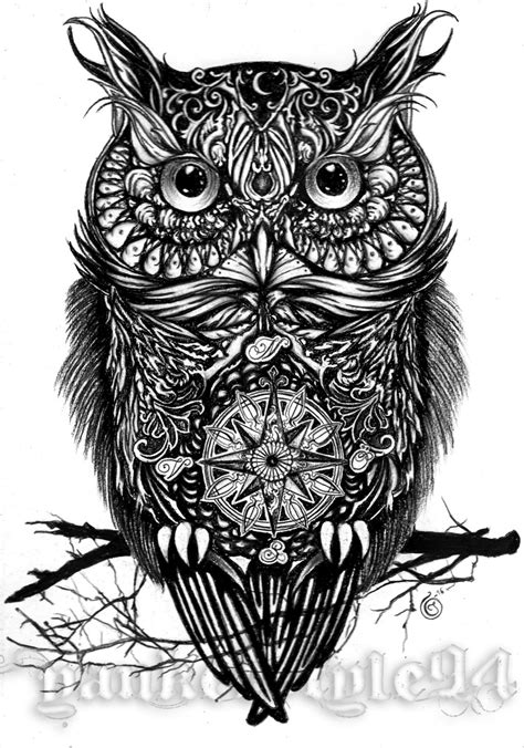 mechanical owl tattoo design owl tattoo by yankeestyle94 on deviantart