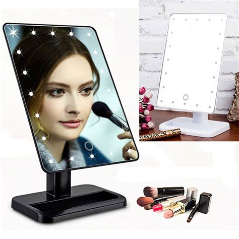 led light up mirror led make up mirror cosmetic folding portable compact