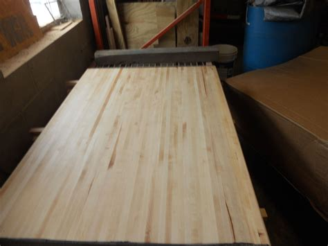 Handmade Butcher Block - handmade maple butcher block by panels plus woodworking