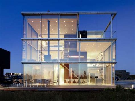 glass box house glass box abodes amsterdam s rieteiland house leaves little privacy for its inhabitants
