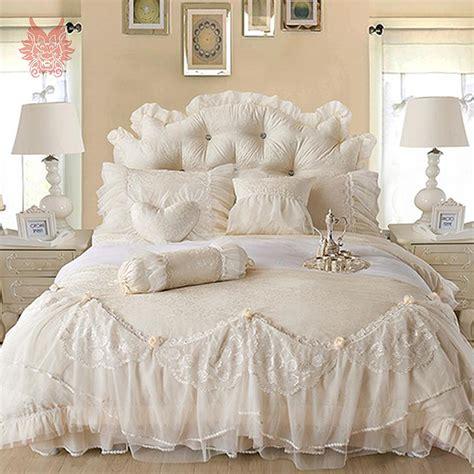 100 aliexpress buy m u0026j aliexpress home decor free shipping korean princess bedding sets for wedding decor 100 cotton lace duvet cover