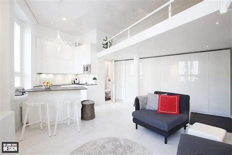 white studio apartments small apartment design with a spacious loft