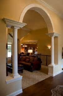 awesome Arch Between Kitchen And Living Room #1: mediterranean-living-room.jpg