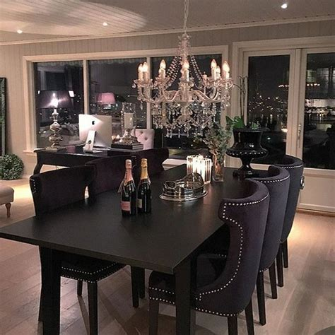 black chandelier dining room best 25 black dining tables ideas on black