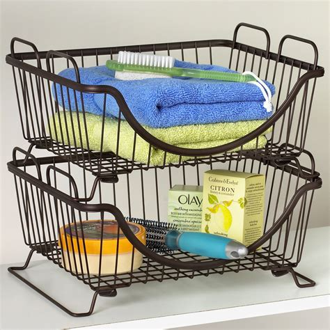 Pantry Wire Baskets by Pantry Storage Basket In Wire Baskets