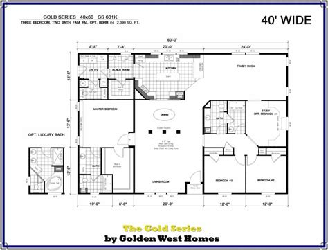 40x60 barndominium floor plans manufactured modular home