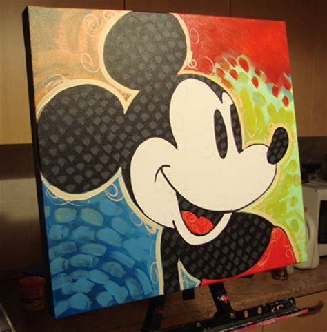 mickey mouse painting painting of mickey mouse by dillon spray paint acrylic