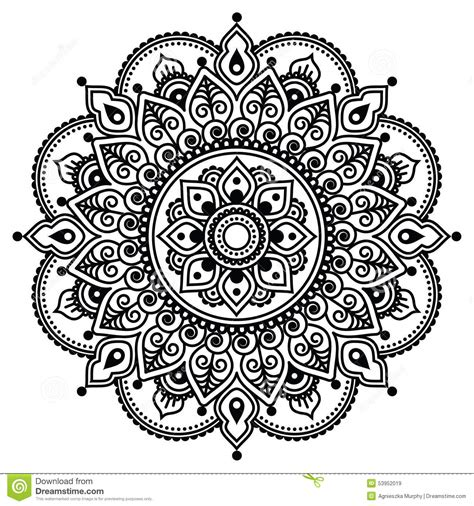 hindi pattern tattoo mehndi indian henna tattoo pattern or background stock