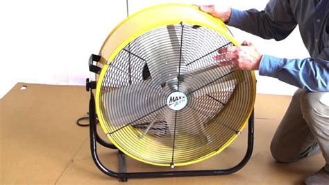 max air 24 inch fan maxxair 24 inch tilt fan youtube