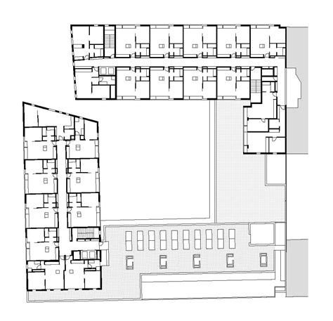 public building floor plans gallery of 154 rental social housing and public building