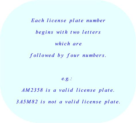 4 Letter Words Number Plates permutations or combinations
